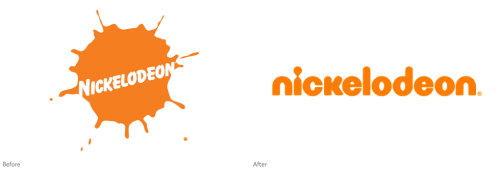 nickelodeon logo before vs after