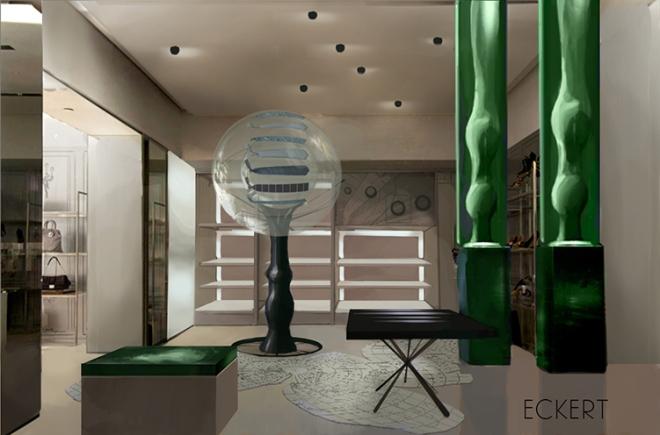 Josh Eckert - retail design - globe
